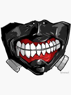 ' Sticker by DiverseX Kaneki, Tokyo Ghoul, Popular Anime, Retro Recipes, Transparent Stickers, Sticker Design, Joker, Sewing, Stickers