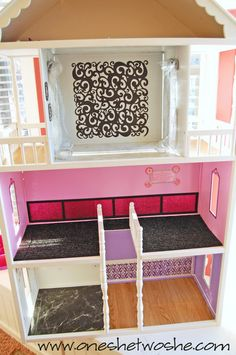 6 hour dollhouse remodel now its perfect for barbie barbie doll furniture diy