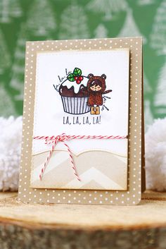 I am over the moon excited to give you a first look at Alpine Carolers , the set I designed in collaboration with Mama Elephant. Carnival Cupcakes, Mama Elephant Stamps, Pretty Cards, Creative Cards, Just Me, Handmade Christmas, Giveaway, Christmas Cards, Card Making