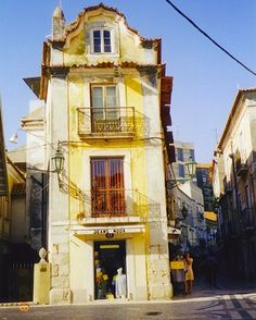 street in setubal, portugal
