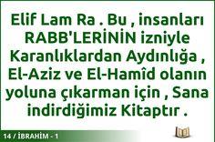 #ALLAH #KURAN #İBRAHİM  14 / İBRAHİM - 1