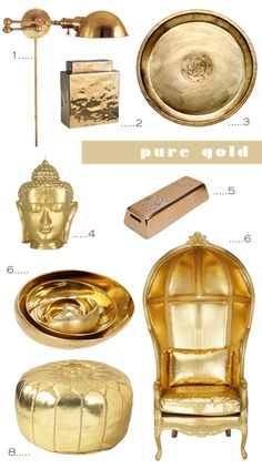 Moodboard: Pure Gold | My Paradissi