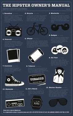 For those of you who've always wanted to be 'hip', but never knew how...The Hipster Owner's Manual via @DesignTAXI Crew
