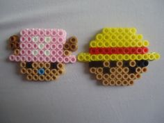 Chopper and Luffy perler beads by *PerlerHime on deviantART