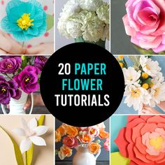 Learn how to turn paper into beautiful DIY flowers with 20 paper flower templates and tutorials. Paper flowers make beautiful gifts, centerpieces, and more. Diy And Crafts Sewing, Crafts To Sell, Diy Crafts, Sewing Projects, Sewing Patterns Free, Free Sewing, Free Pattern, Shirt Patterns, Diy Flowers
