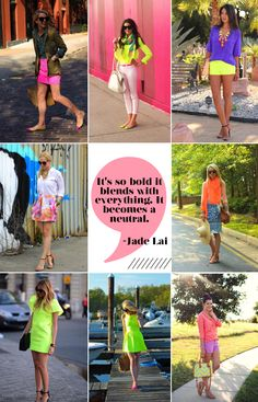 neon outfits- Atlantic-Pacific, The Pink Peonies, Viva Luxury, Brooklyn Blonde, The Blonde Salad, Kendi Everyday