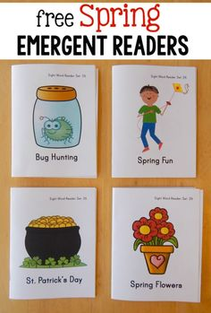 """These free spring emergent readers feature the sight word """"he"""" and are part of a giant collection of free sight word books!"""