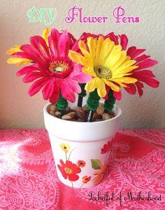 Fun Flower Pens! {DIY}