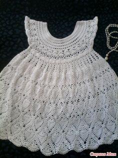 Белоснежные ананасы для Алисы!!! Crochet For Kids, Crochet Baby, Free Crochet, Crochet Top, Toddler Dress, Baby Dress, Baby Patterns, Crochet Patterns, Christening Gowns