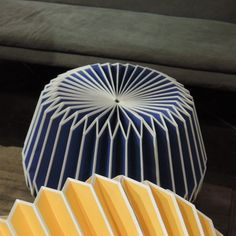 Suspension en papier plissé Origami Chehoma - bleu