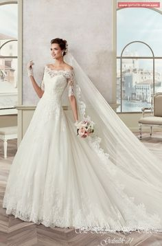 Cheap dress beachwear, Buy Quality dress up party decorations directly from China dress slim Suppliers: 2017 Wedding Dresses Long With Lace Appliques Boat Neck A Line Half Sleeve Bridal Wedding Gowns Bride Dress vestido de noiva Tulle Wedding Gown, Modest Wedding Dresses, Cheap Wedding Dress, Designer Wedding Dresses, Bridal Dresses, Simple Gowns, Unconventional Wedding Dress, Dress Vestidos, Bride Gowns