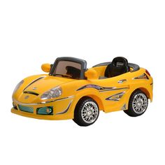 Best Ride On Cars Yellow Convertible Kids Car