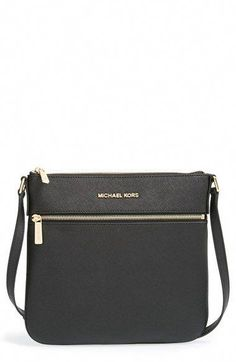 MICHAEL Michael Kors  Bedford  Saffiano Leather Flat Crossbody Bag  available at  Nordstrom  178.00 6cfc7e8e432