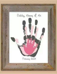 Cute idea hand print