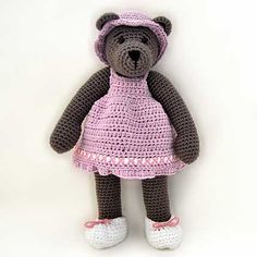 10 Inch Bear With Outfit Amigurumi Pattern