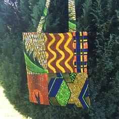 Stof taske af afrikansk bomuldsstof
