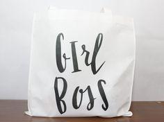 Girl Boss Lightweight Tote  Reusable Tote Bag
