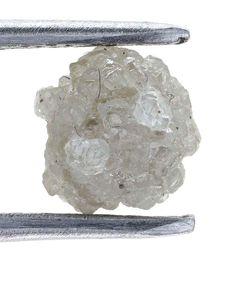 1.00 Carat Earth Silver Colors Cluster Raw Uncut Natural Rough Diamond Gem
