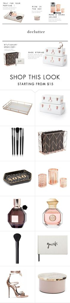 """Rose gold love"" by halaadosariii ❤ liked on Polyvore featuring interior, interiors, interior design, home, home decor, interior decorating, AND B, Illamasqua, U Brands and Viktor & Rolf"