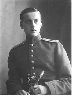 Grand Duke Dmitri Pavlovich of Russia (1891–1942) Russian Imperial Highness & one of the few Romanovs to escape murder by the Bolsheviks after the Russian Revolution, known for being involved in the murder of Grigori Rasputin, whom he felt held undue sway over Tsar Nicholas II. Son of Grand Duke Paul Alexandrovich & a first cousin of Nicholas II of Russia. Dmitri's mother, Grand Duchess Alexandra Georgievna, was a daughter of George I of Greece & Olga Konstantinovna of Russia