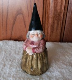 Vintage 1979 Unieboek B V Gorham of Lady Woman Gnome Bell w Sticker | eBay