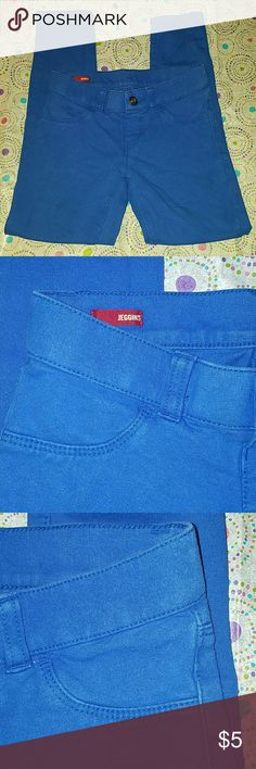 Girl's Arizona Jean Co. Cobalt Blue Jeggings -size 7REG -slightly faded, but still a vibrant color and very cute -96% cotton; 4% spandex  -good condition -no holes, rips, tears, stains Arizona Jean Company Bottoms Leggings