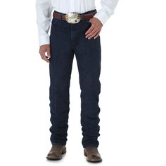 Wrangler Men's Jeans Cowboy Cut Slim Fit ($34) ❤ liked on Polyvore featuring men's fashion, men's clothing, men's jeans, jeans, men and nightfire