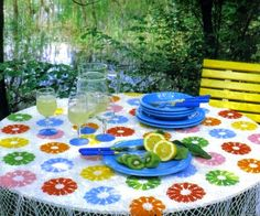 Tablecloths BRIGHT multicolored motifs