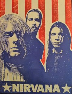 Nirvana  American Flag  Rare Advertising Poster 18x24 * Click image to review more details.Note:It is affiliate link to Amazon.