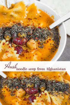 Sometimes when the weather starts to cool, a creamy, rich, comforting soup is exactly what we need. Aush, or noodle soup, from Afghanistan, fits the bill perfectly! Loaded with spices, filled with meat and pasta, and enriched with cream, this divine soup will brighteneven the coolest of autumn days or dreariest of winter