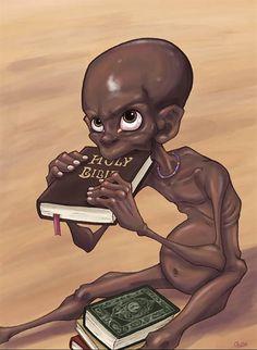 Religiões que mais deveriam auxiliar os necessitados, são as que mais os colocam nessa condição. Bíblia não é alimento, arroz e feijão sim!