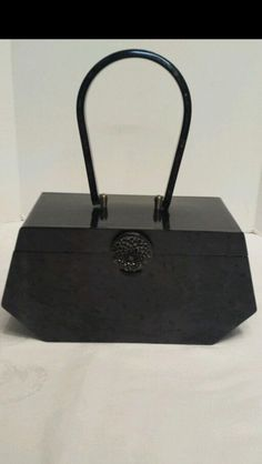 Vintage Wilardy Lucite Purse ~ Pocketbook ~ Black Pearl