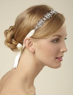 Bridal Ribbon Head Wrap from the Limited NEW :  wedding head band head wrap headband Headwrap
