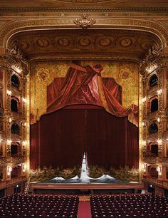 David Leventi - Curtain, Teatro Colon, Buenos Aires, Argentina - Ed. of 10 Theater, Theatre Stage, Turandot Opera, Stage Curtains, New York Studio, Phantom Of The Opera, Concert Hall, Architectural Digest, Opera House