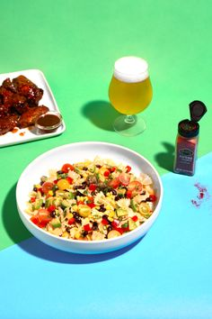 Learn how to prepare this easy Southwestern Pasta Salad recipe like a pro. With a total time of only 25 minutes, you'll have a delicious lunch ready before you know it. Game Salad, Southwestern Pasta Salads, Salad Shop, Beet And Goat Cheese, Summer Grilling Recipes, Tasty Recipe, Ideal Protein, Frozen Corn, Pasta Salad Recipes