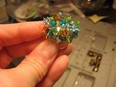 Summer mix Bling Ring. Swarovski crystal x 32