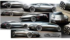 Citroen DS24 Concept Sketch - Car Body Design