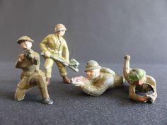 LOT 4 SOLDATS QUIRALU ? ALUMINIUM ARMEE FRANCE MILITARY PATRIE US ARMY GI | eBay