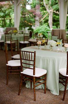 Garden Wedding Venue |  Outdoor Sage Green and Burlap Reception- Photo: JHenderson Studios