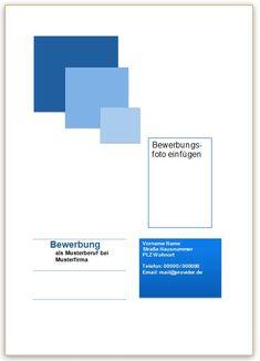 Deckblatt Beispiel für die Bewerbung