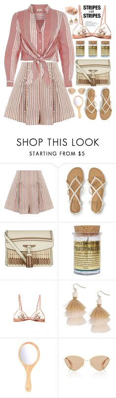 """""""Stripes on Stripes pattern challenge"""" by fcris7176 ❤ liked on Polyvore featuring Zimmermann, River Island, Burberry, Little Shop of Oils, Humble Chic, Le Specs, stripesonstripes and PatternChallenge"""