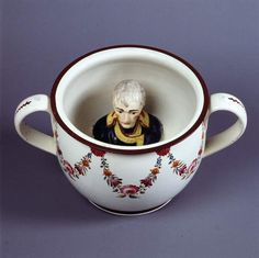 Chamber pot with head of Napoleon, Britain, ca. 1805, by unknown