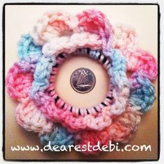 Dearest Debi: crochet hair elastic flower