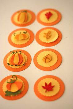 fall cupcake toppers Homemade Cake Recipes, Cupcake Recipes, Cupcake Ideas, Fondant Cupcakes, Cupcake Cakes, Cup Cakes, Cupcake Picks, Cupcake Toppers, Fall Wedding Cupcakes