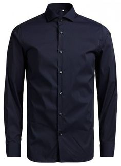 Slim Fit (close-fitting chest, waist and upper arm) Tailor Design Cotton, Nylon and Elastane Material Jack & Jones Premium business shirt comes in modern cutaway collar.