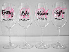 SINGLE DIY Wine Glass Decal Monogram With by SaidInStoneOnline, $1.75