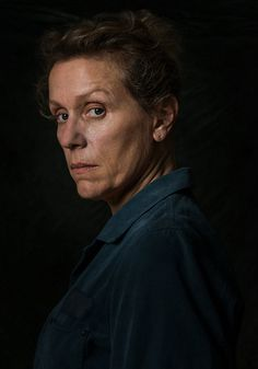 Frances McDormand as Mildred Hayes in Three Billboards Outside Ebbing, Missouri (Awards: Oscar, BAFTA, Golden Globe) Amazing Photography, Portrait Photography, Martin Mcdonagh, Kino Film, Portrait Inspiration, Best Actress, Real People, Billboard, Missouri