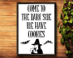 Items similar to Halloween Decorations Halloween Quotes, Halloween Prints, Halloween Ideas, Halloween Decorations, Witch Signs, Halloween Printable, Halloween Porch, Etsy Handmade, Printable Wall Art