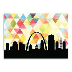 "East Urban Home Saint Louis Triangle Graphic Art Size: 18"" H x 24"" W"