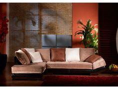 Canapé d'angle Bycast MEKONG velours et cuir prix promo Vente Unique 949.99 € TTC prix constaté 1 299.00 €